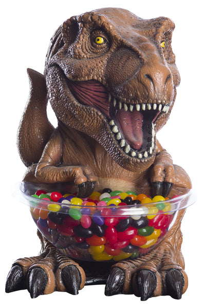 Candy Bowl Holder Jurassic Park T-Rex Mini Brown Half Foam Licensed Statue - LM Treasures