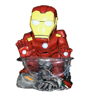 Candy Bowl Holder Marvel Iron Mini Man Half Foam Licensed Statue - LM Treasures Life Size Statues & Prop Rental