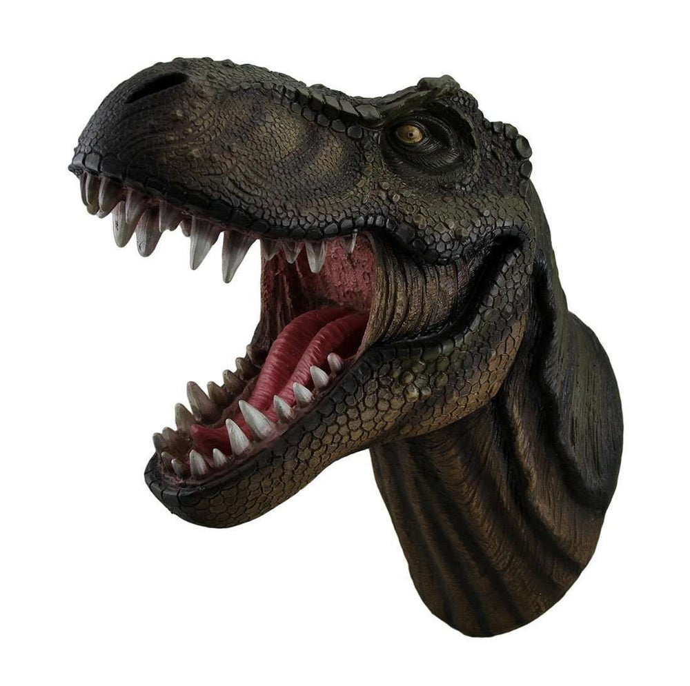 Ferocious T-Rex Dinosaur Head Small Life Size Statue - LM Treasures Life Size Statues & Prop Rental