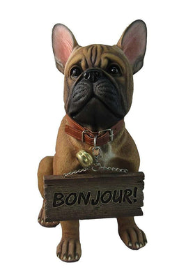 Dog French Bulldog Animal Prop Life Size Deecor  Resin Statue - LM Treasures Life Size Statues & Prop Rental