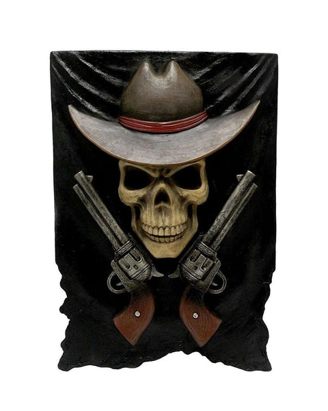 Skeleton Cowboy Wall Decor Statue - LM Treasures