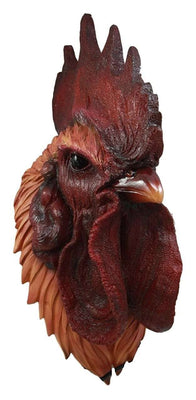 Bird Chicken Rooster Realistic Head Animal Prop Life Size Decor Resin Statue- LM Treasures