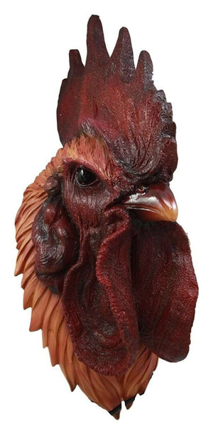 Bird Chicken Rooster Realistic Head Animal Prop Life Size Decor Resin Statue - LM Treasures Life Size Statues & Prop Rental