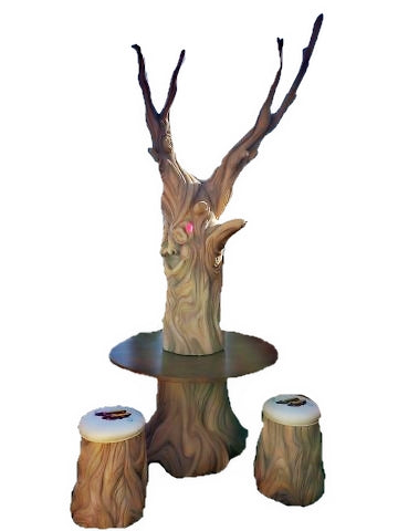 Wizard of Oz Tree Table And Chairs Life Size Statue - LM Treasures