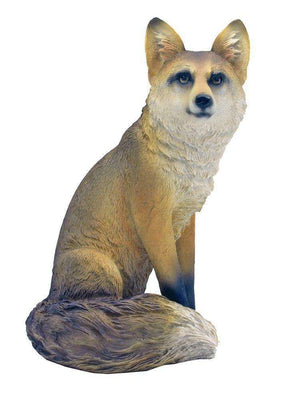 Dog Wild Fox Table Top Animal Prop Life Size Decor Resin Statue- LM Treasures