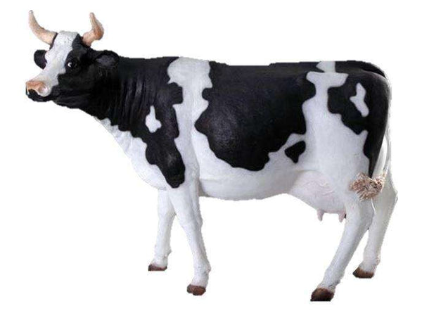 Large Holstein Cow Life Size Statue - LM Treasures Life Size Statues & Prop Rental