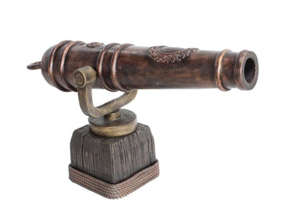 Pirate Cannon With Swivel Base Life Size Statue Resin Decor - LM Treasures Life Size Statues & Prop Rental
