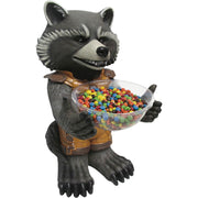 Candy Bowl Holder Marvel Gardens Of The Galaxy Rocket Half Foam Licensed Statue- LM Treasures