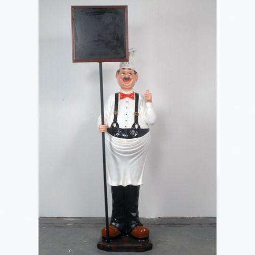 Chef Thumbs Up Life Size Restaurant Prop Decor Statue - LM Treasures