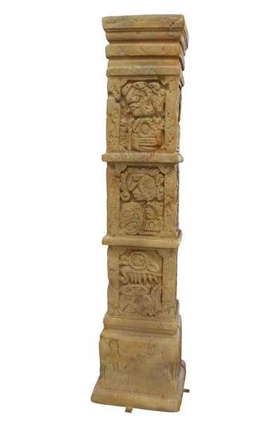 Column Aztec Pilaster Greek Roman Prop Resin Decor - LM Treasures Life Size Statues & Prop Rental