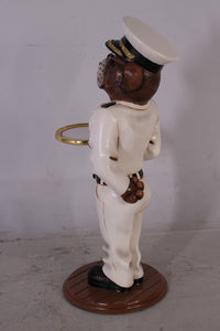 Admiral Bulldog Butler Statue - LM Treasures Life Size Statues & Prop Rental