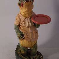 Crocodile Butler Small Statue - LM Treasures Life Size Statues & Prop Rental
