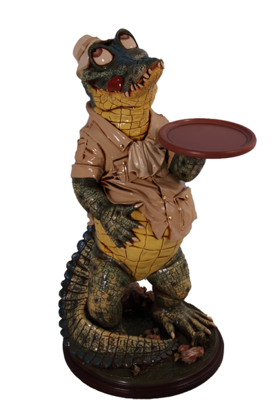 Crocodile Butler Large Statue - LM Treasures Life Size Statues & Prop Rental
