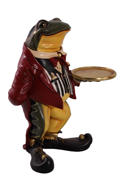 Large Frog Butler Statue - LM Treasures Life Size Statues & Prop Rental