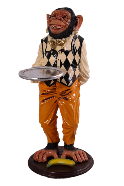 Large Monkey Butler Life Size Statue - LM Treasures Life Size Statues & Prop Rental