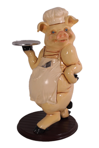 Piggy Butler Life Size Statue - LM Treasures Life Size Statues & Prop Rental