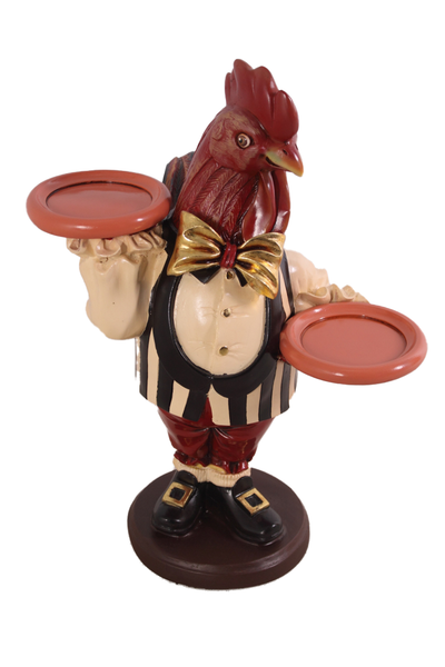Small Rooster Butler Statue - LM Treasures