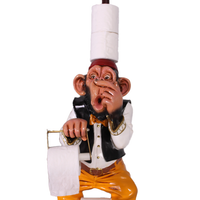 Monkey Toilet Paper Holder Life Size Statue - LM Treasures Life Size Statues & Prop Rental