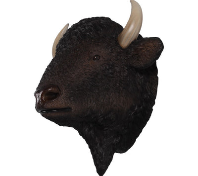 Buffalo Bison American Head Animal Prop Life Size Decor Resin Statue- LM Treasures