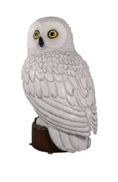 Snow Owl Over Sized Statue - LM Treasures Life Size Statues & Prop Rental