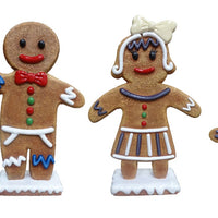 Large Gingerbread Family Set of 5 Over Sized Statue - LM Treasures