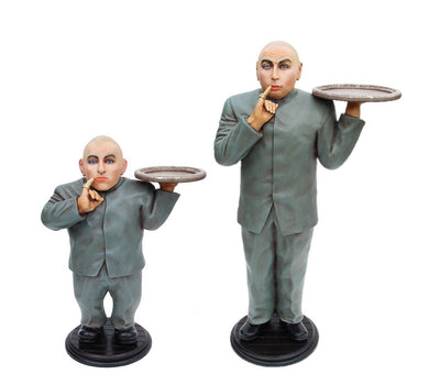 Celebrity Austin Powers Baldy (Set of 2) Mini Me Dr Evil Butler Life Size Statues - LM Treasures Life Size Statues & Prop Rental