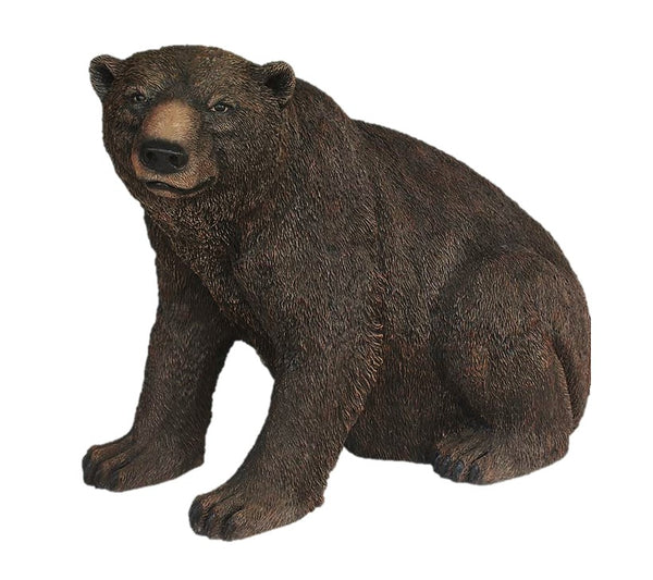 Brown Grizzly Bear Sitting Life Size Statue - LM Treasures Life Size Statues & Prop Rental