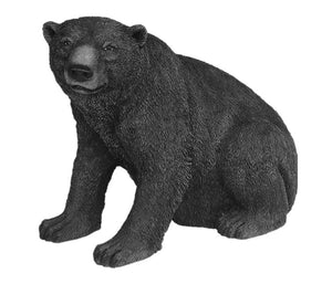 North American Black Bear Sitting Life Size Statue - LM Treasures