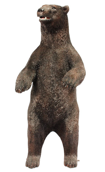 Brown Grizzly Bear Standing Life Size Statue - LM Treasures Life Size Statues & Prop Rental