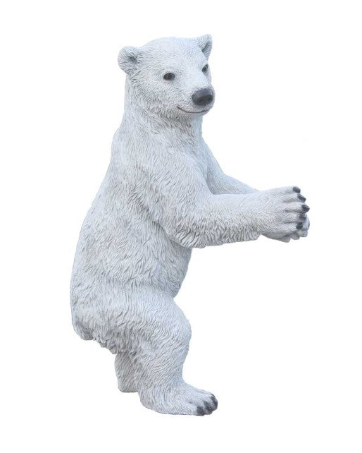 Baby Polar Bear Life Size Statue - LM Treasures