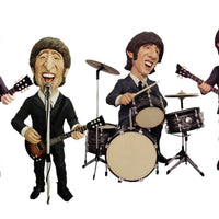 English Rock Band Caricature Set Life Size Statue - LM Treasures Life Size Statues & Prop Rental