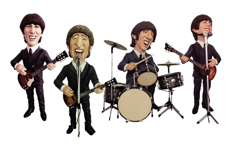 English Rock Band Caricature Set Life Size Statue - LM Treasures