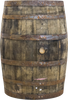 Barrels Whiskey Statue Life Size Wooden Prop Decor - Pre Owned- LM Treasures