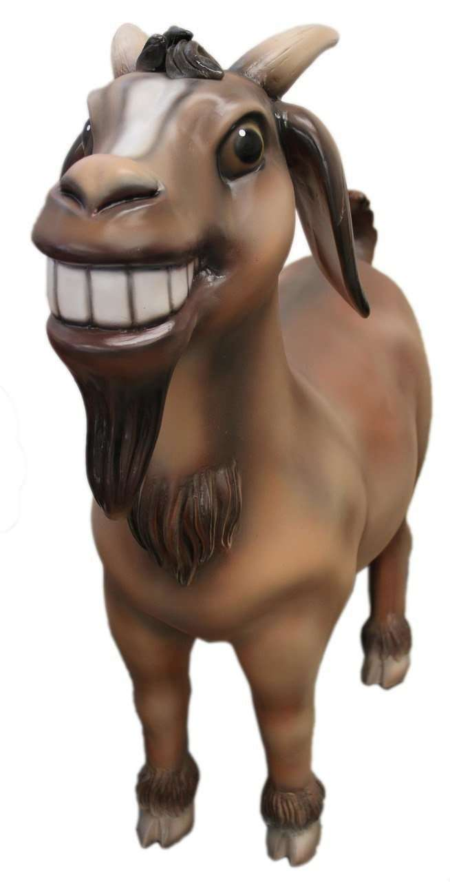 Comic Goat Life Size Statue - LM Treasures