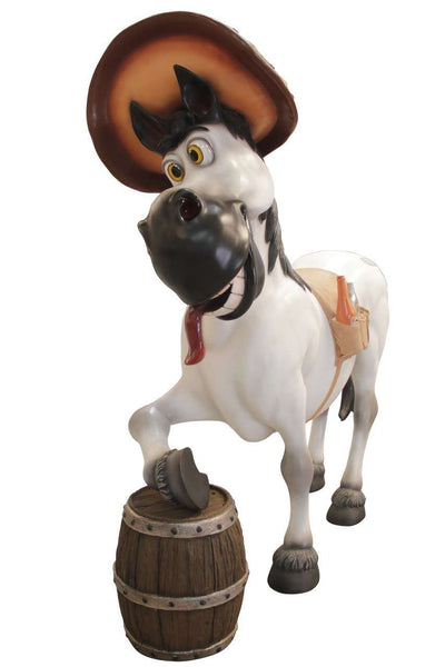 Comic Drunken Horse Life Size Statue - LM Treasures Life Size Statues & Prop Rental