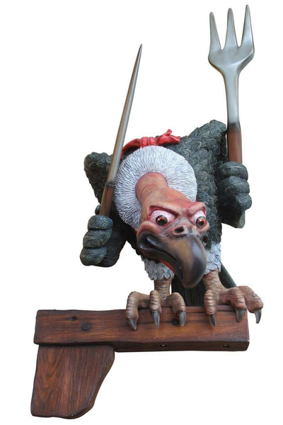 Bird Vulture Comic On Post Animal Prop Life Size Resin Statue - LM Treasures Life Size Statues & Prop Rental