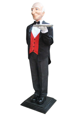 Butler Life Size Display Prop Decor Resin Statue- LM Treasures