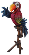 Comic Bird Parrot Pirate On Stand Animal Prop Life Size Resin Statue - LM Treasures Life Size Statues & Prop Rental