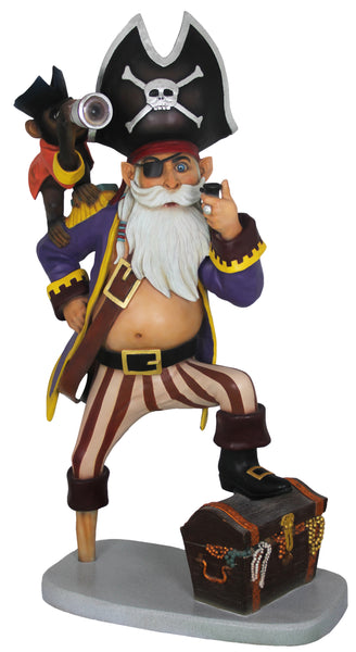 Pirate Captain Anton Life Size Statue - LM Treasures Life Size Statues & Prop Rental