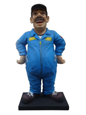 Cartoon Mechanic Man Display Prop Decor Resin Statue- LM Treasures