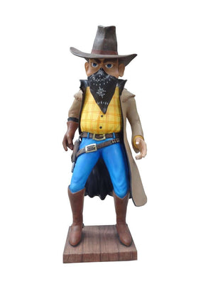 Comic Cowboy Robber Western Display Prop Decor Resin Statue - LM Treasures Life Size Statues & Prop Rental