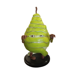Spooky Fruit Mummy Pear - LM Treasures Life Size Statues & Prop Rental