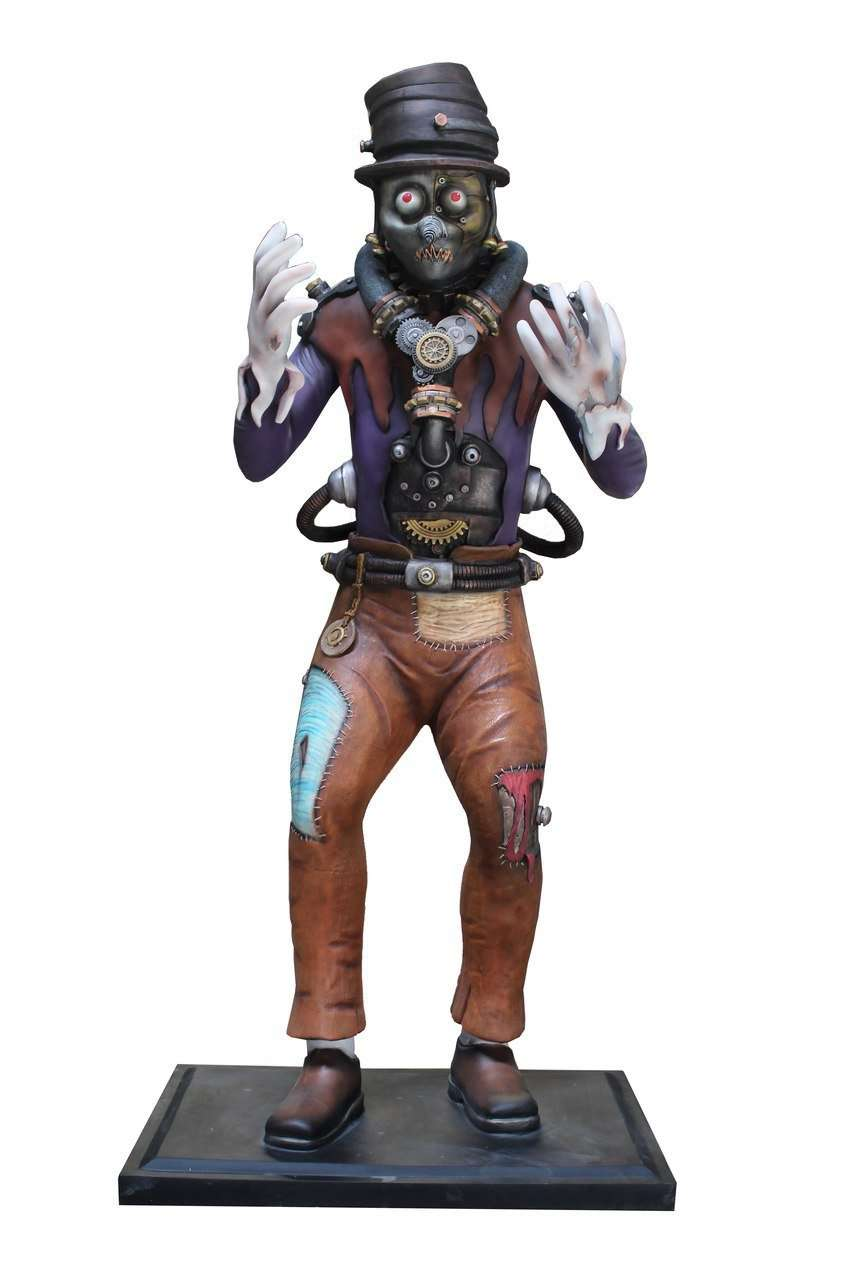 Comic Steampunk Scarecrow Life Size Halloween Decor Prop Statue - LM Treasures Life Size Statues & Prop Rental