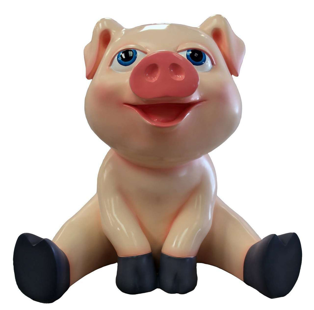 Comic Baby Pig Sitting Life Size Statue - LM Treasures Life Size Statues & Prop Rental