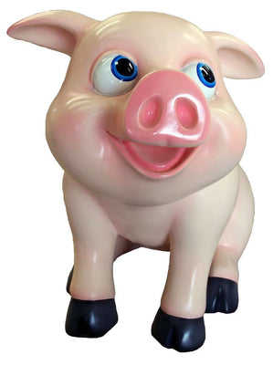 Comic Pig Baby Standing  Display Resin Prop Decor Statue - LM Treasures Life Size Statues & Prop Rental