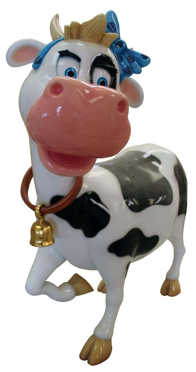 Comic Cow Miss Teenage Display Prop Decor Resin Statue - LM Treasures Life Size Statues & Prop Rental