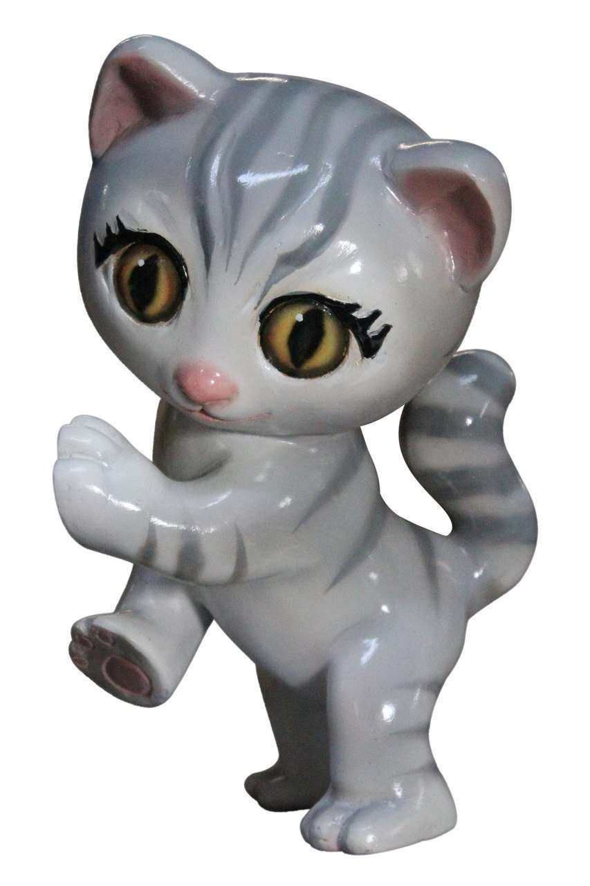Gray Comic Cat Life Size Statue - LM Treasures Life Size Statues & Prop Rental