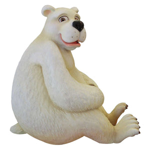 Comic Polar Bear Papa Life Size Statue - LM Treasures