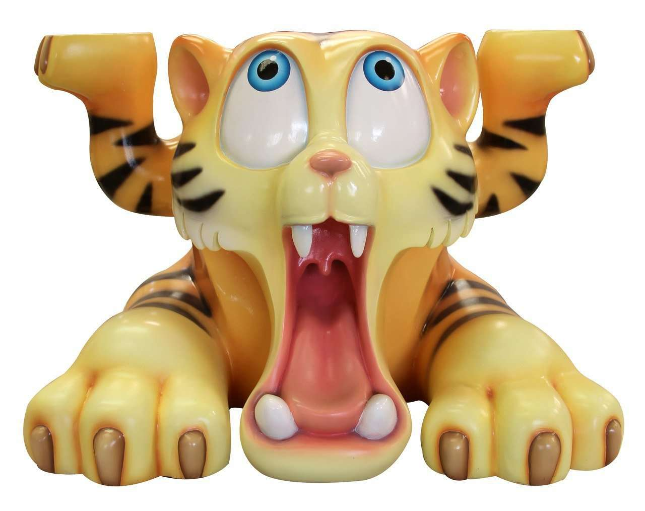 Comic Tiger Table Prop Life Size Decor Resin Statue - LM Treasures