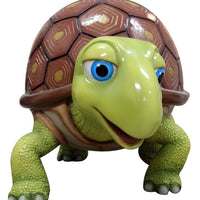 Comic Walking Turtle Life Size Statue - LM Treasures